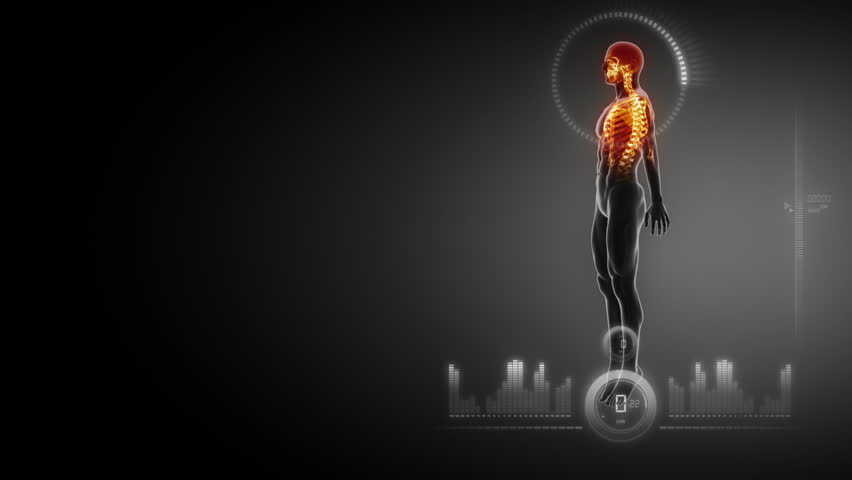 Medical interface with human body x-ray scan in loop