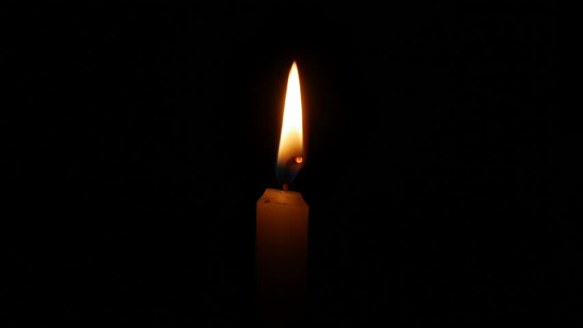 Close up candle flame