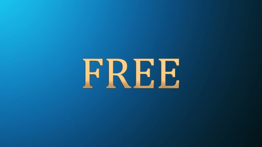 3d gold text letters free. Inscription for motion posters, banners.
