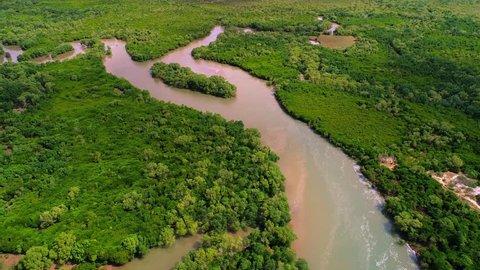 aerial view of the mangrove swamps in Dar es salaam