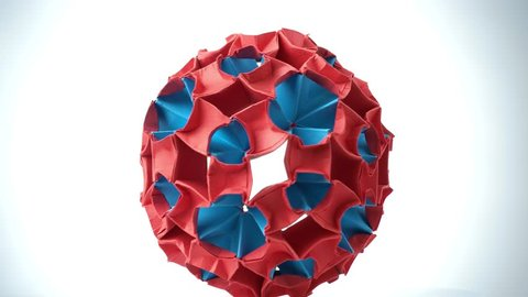 Royalty Free Multicolor Ball Flower Origami Video Footage And Clips