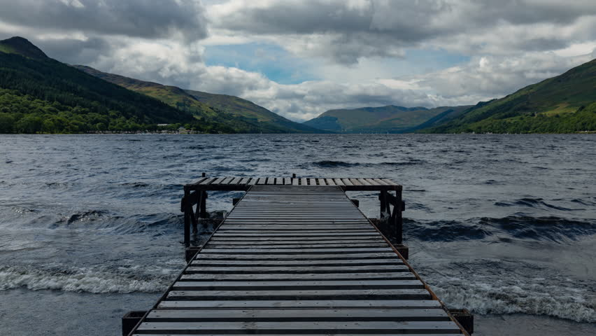 Establishing Shot - Timelapse of Loch Earn in Scotland