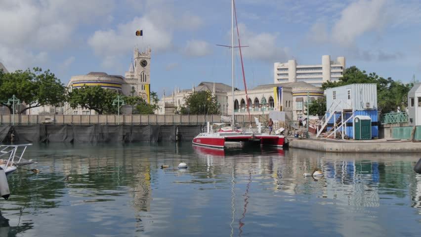 Parliament Building & Constitution River, Bridgetown, St Michael, Barbados, West Indies, Caribbean
