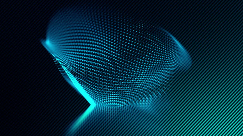 Blue abstract vector structure technology wavy animated background. UHD 4K seamless loop video.
