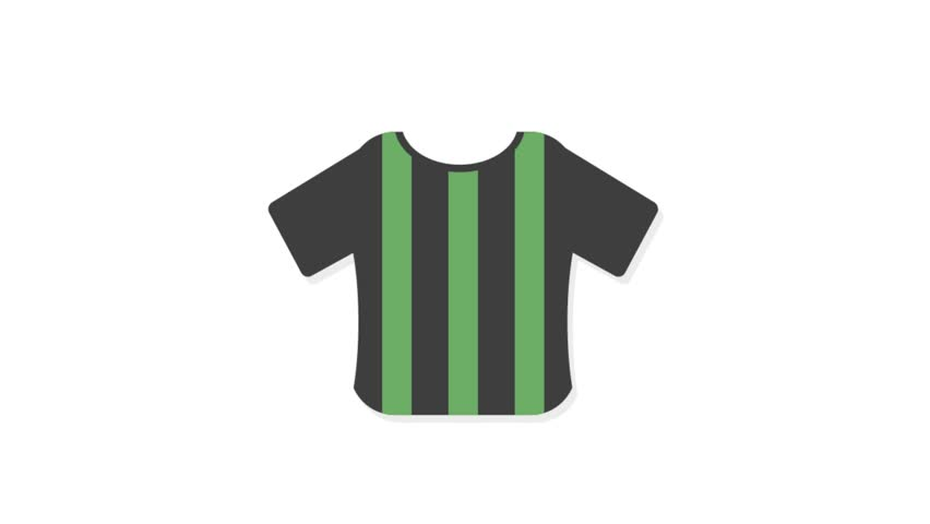 Sports icons animation with white  background.Shirt icon animation with white background.