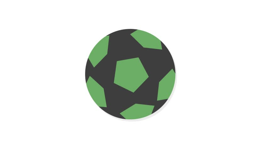Sports icons animation with white  background.Football icon animation with white background.