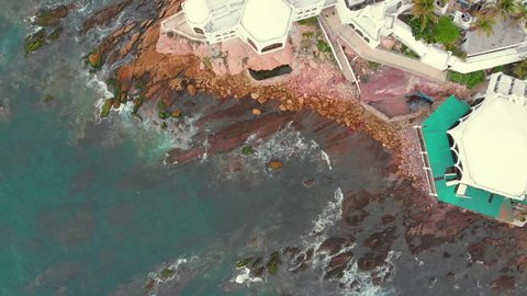 Mazatlan Sunset Malecon Valentinos Aerial Drone Footage
