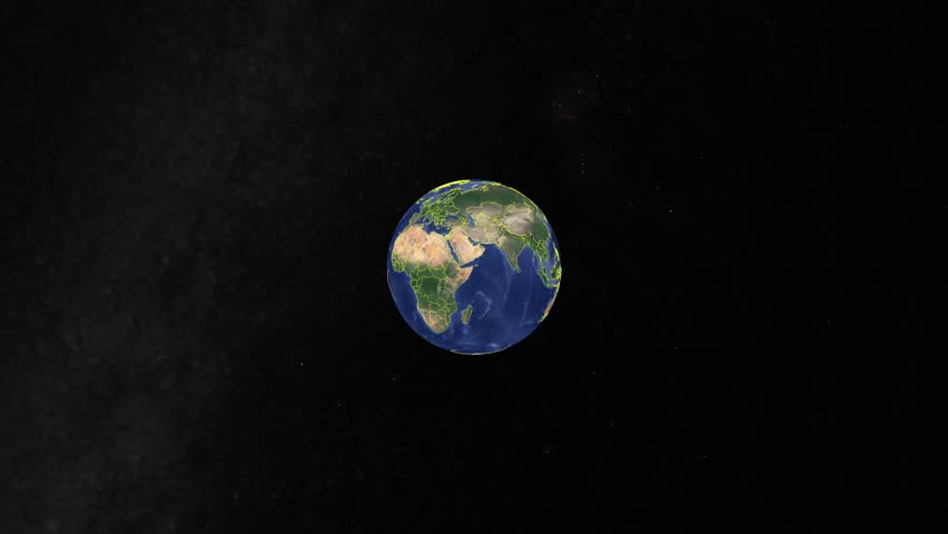 South Korea with flag. 3d earth in space - zoom in South Korea outer, created using ultra high res NASA | Shutterstock HD Video #1014721241