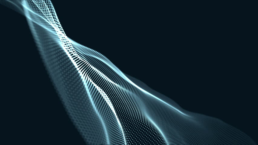 Digital wave background abstract title green blurred animation of particle seamless light through. | Shutterstock HD Video #1014721331