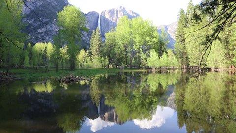 Slow flowing Merced River - Yosemite National Park, California