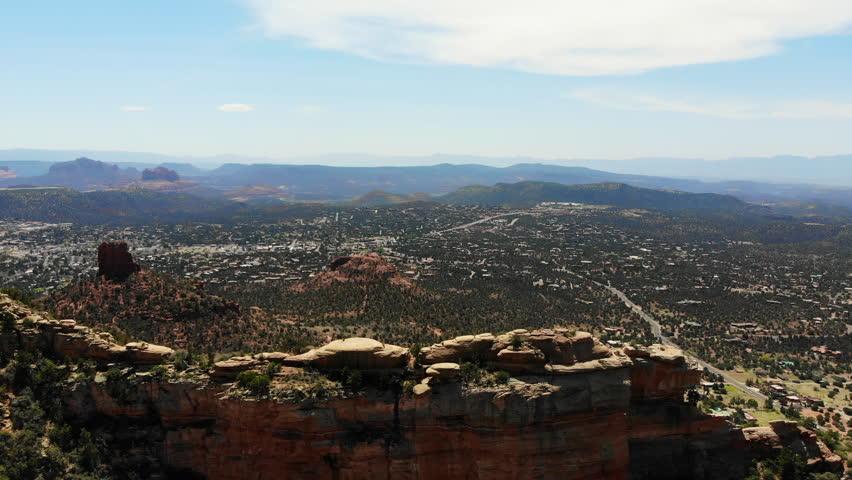 Drone shots of gorgeous Sedona, Arizona in the winter | Shutterstock HD Video #1014729011