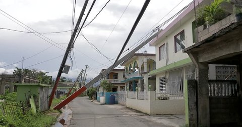 Street view Hurricane Maria is regarded as being the worst natural disaster on record to affect Dominica and Puerto Rico.