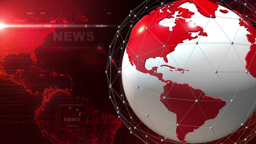 A red dynamic 3D News title page animation. | Shutterstock HD Video #1014816341