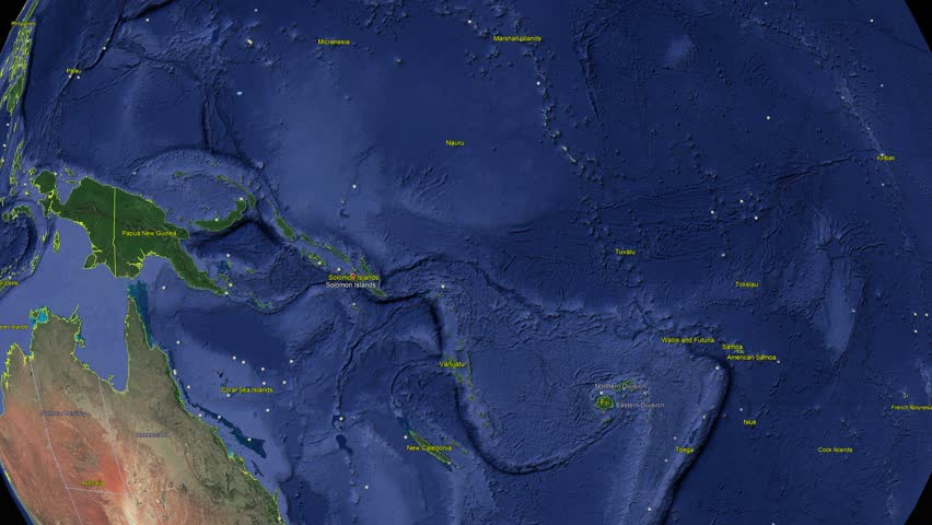 Solomon Islands with flag. 3d earth in space - zoom in Solomon Islands outer, created using ultra high res NASA