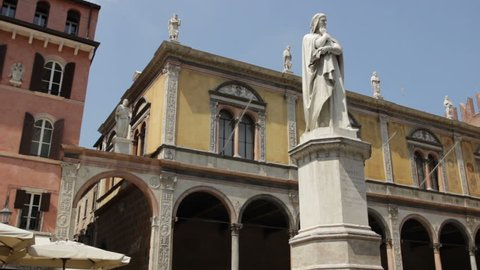 Dante Alighieri Statue famous Italian Poet