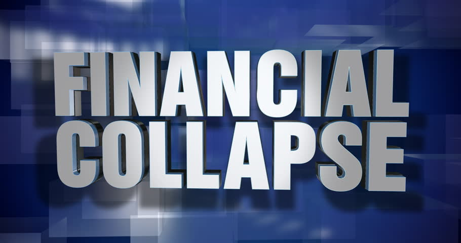 A blue dynamic 3D Financial Collapse transition and title page animation. 5 and 2 second options included with optional luma matte for both.  | Shutterstock HD Video #1014869161