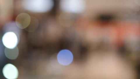 Colored Bokeh of light from shopping mall blurred background