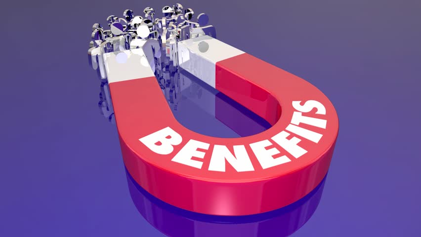 Benefits Perks Features Compensation Magnet Pulling People 3d Animation   Shutterstock HD Video #1014967861