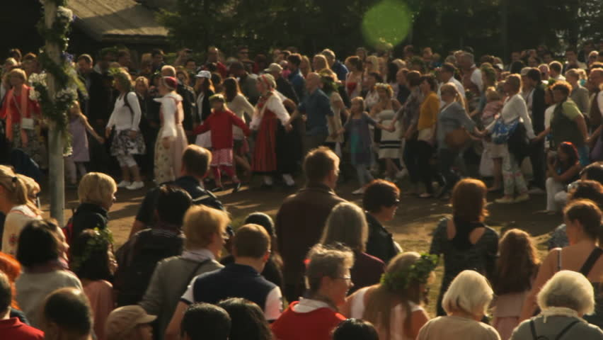 Stockholm, Stockholm / Sweden - 06 22 2018: One of the most characteristic and beloved Swedish traditions of all is Midsummer's Eve. This year's Midsummer is celebrated on June 22, the longest day of #1014978061