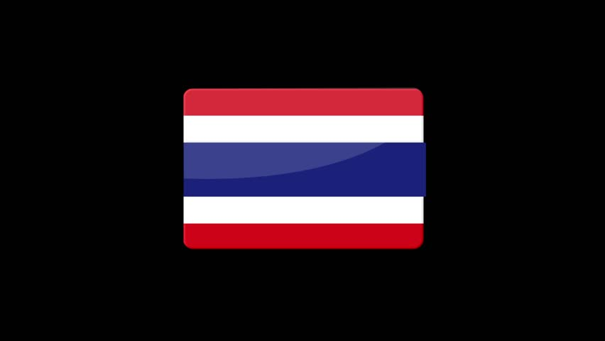 Flag of Thailand Beautiful 3d animation of Thailand flag in loop mode.Thailand flag animation