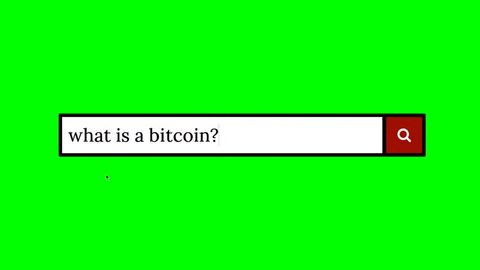 Writing a question on a fake search engine and clicking on the lens icon for the answer: what is a bitcoin?