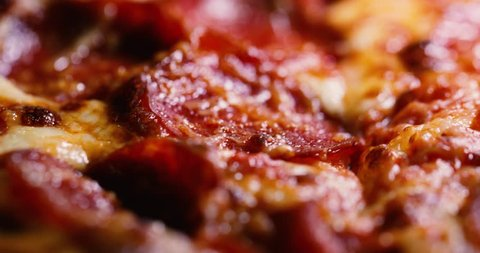 Close up of a delicious pepperoni pizza