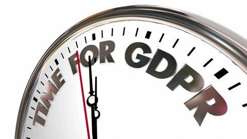 Time for GDPR Digital Marketing Regulations Europe 3d Animation