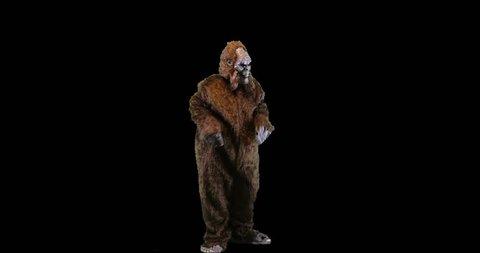 Bigfoot or Sasquatch creature dancing.