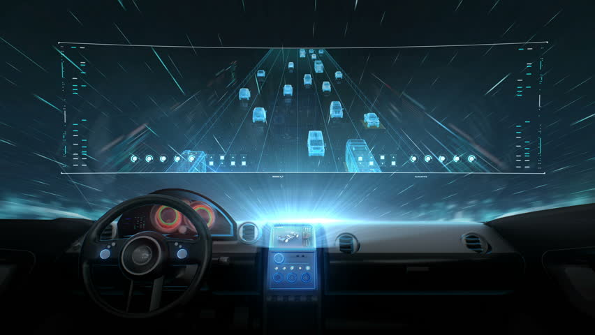 Inside of Future hybrid cars, Traffic control surveillance cameras. IOT. traffic CCTV cameras mounted main on high way, 4k movie. 2. | Shutterstock HD Video #1015117891