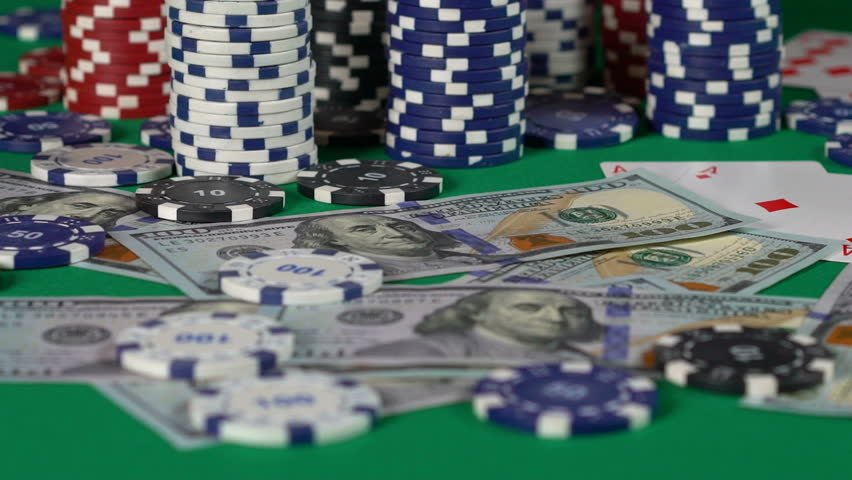 Casino dice roll in slow motion, gambler trying luck, money at stake, jackpot. Fortune, gambling, money | Shutterstock HD Video #1015140061