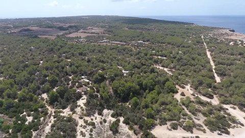 Formentera Cala Saona Drone footage