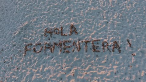 Drone footage of the beautiful island of Formentera.