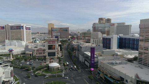 Las Vegas, United States - September, 2017: Aerial view of the Las Vegas strip