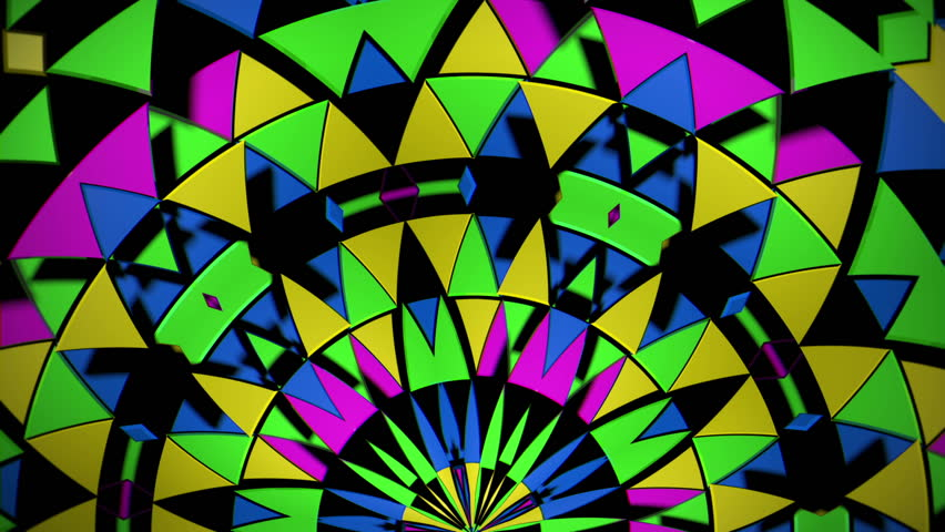 Great multicolored VJ loop with different shiny… - Royalty