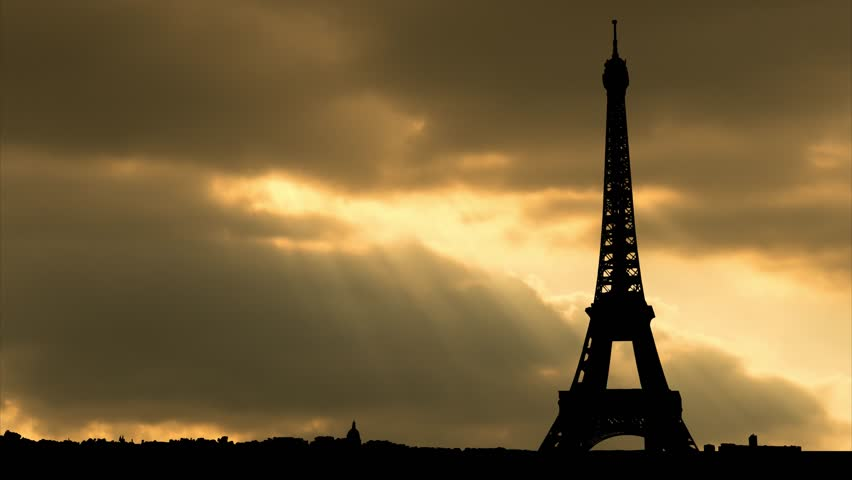 The Eiffel Tower of Paris, France, Sunset Timelapse | Shutterstock HD Video #1015267321