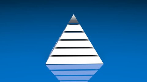 4k Pyramid triangle geometry design element abstract object mystery background. cg_06178_4k