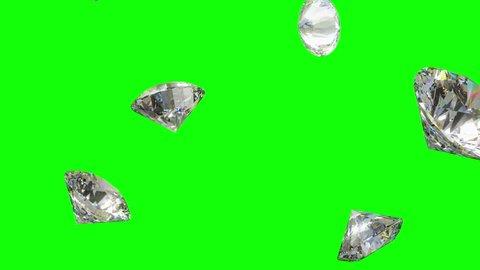 Falling Diamonds - Loopable CG Animation