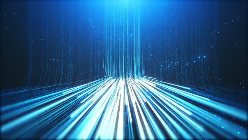 Digital Information Flow from Heaven Background | Shutterstock HD Video #1015472671