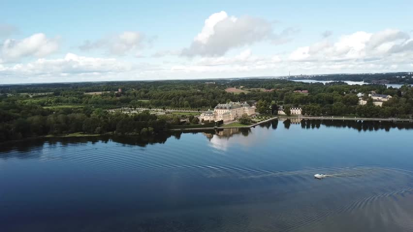 Drottningholm Palace, drone filming