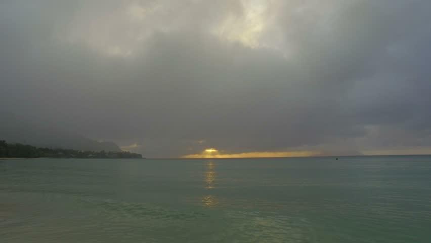 Sunset On The Beau Vallon Beach, Mahe Island, Seychelles