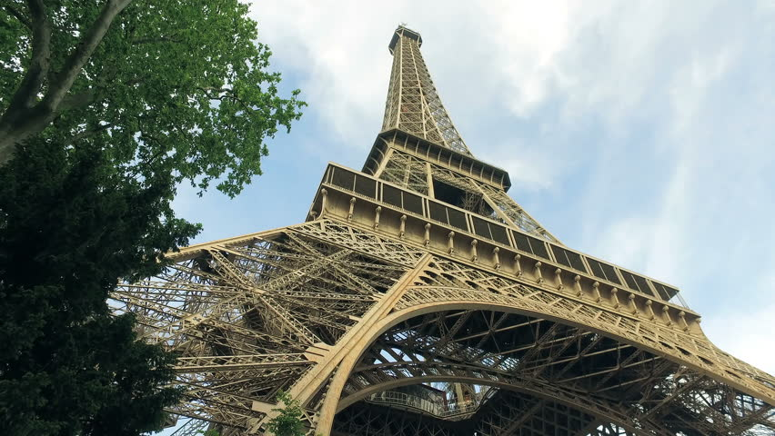 France Paris Cityscape And Eiffel Tower In Motion Hyperlapse, cinematic view | Shutterstock HD Video #1015715431