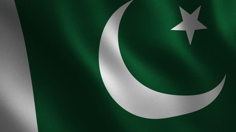 Pakistan flag waving 3d. Abstract background. Loop animation. Motion graphics