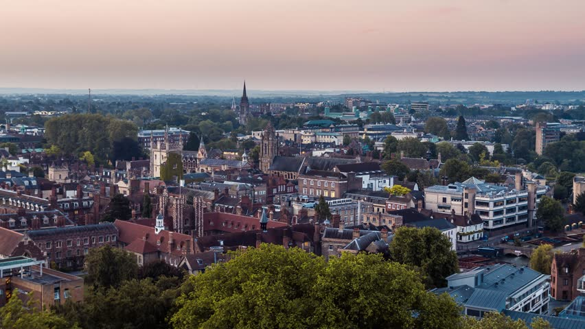 Aerial View of Cambridge, United Kingdom | Shutterstock HD Video #1015783111