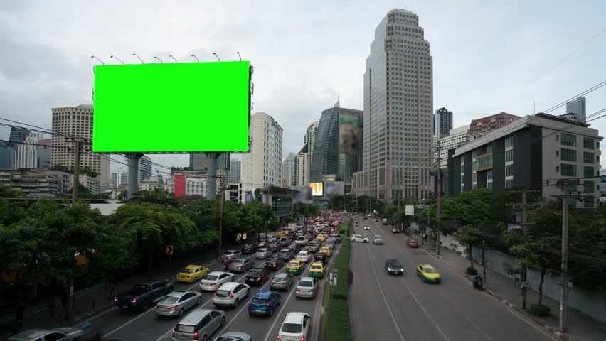 4k timelapse day to night of light trails in road to Asoke district at the center of heart business district in Bangkok city downtown Thailand   Shutterstock HD Video #1015791301