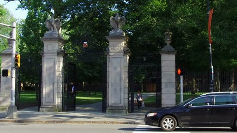 Princeton, NJ / United States - August 12, 2018.   This video shows the Princeton University campus entrance.