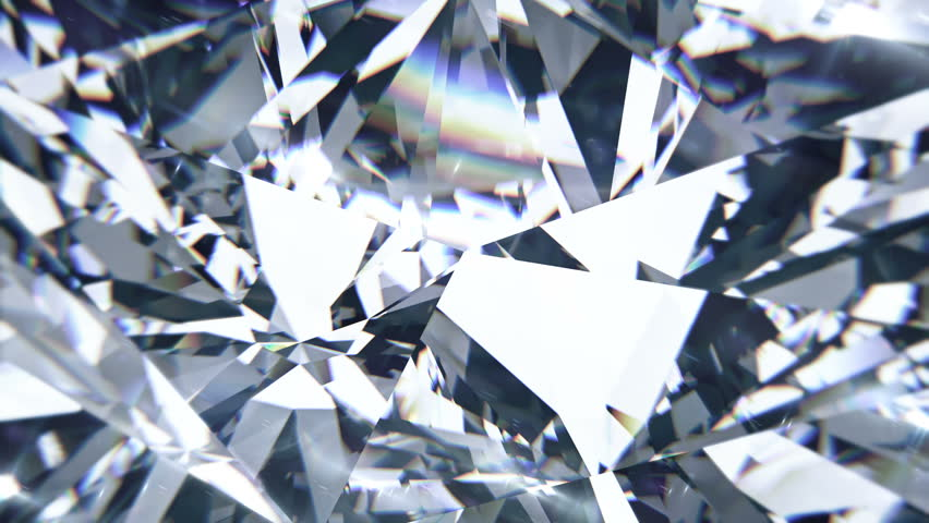 White diamond dispersion footage. Crystal clean gem. Round diamond cut animation with light rainbow on surface. Silver bright background video. 3D animation of shiny gem stone | Shutterstock HD Video #1015846771