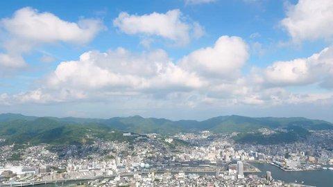 landscape of Nagasaki city from Mt. Inasa