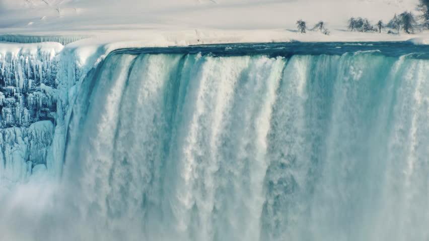 Fantastically beautiful Niagara Falls in winter