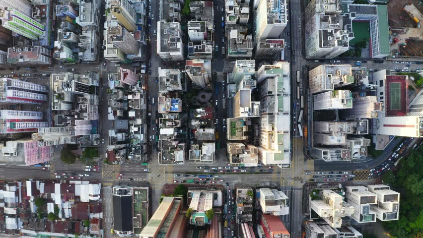 Mong Kok, Hong Kong 04 September 2018:-Aerial view of Hong Kong skyline | Shutterstock HD Video #1016020891