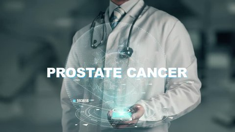 Doctor holding in hand Prostate Cancer